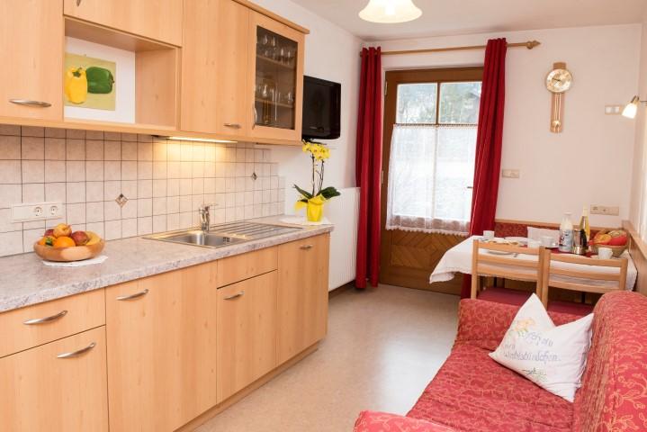 Wohnraum Wohnung Enzian in Niederdorf